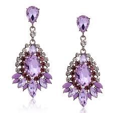 purple earrings big purple drop earrings 2015 fashion rhinestone waterdrop