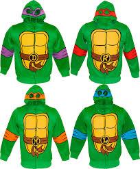 tmnt mutant turtles reptilian print boys costume hoodie