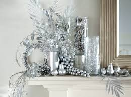 white and silver decorations silver table