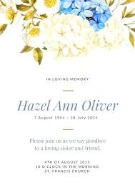 funeral invitation memorial service invitation 7458 and funeral invitations exles
