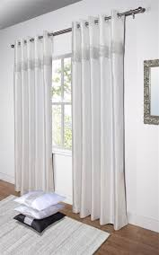 Silk Draperies Ready Made Diamante U0027 Fully Lined White Faux Silk Ready Made Eyelet Curtains