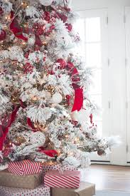 Frosted Christmas Tree Sale - winter white u0026 holiday red flocked christmas trees christmas