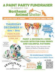 northeast animal shelter paint party fundraiser tickets lynn