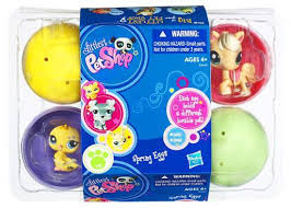 littlest pet shop easter eggs littlest pet shop easter eggs 6 pack of figures hasbro toys toywiz