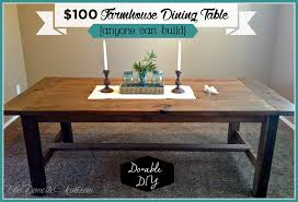 Build A Dining Room Table Diy Farmhouse Dining Table My First Woodworking Project