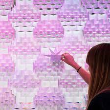 diy christmas decorations origami star tutorial mollie makes
