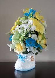 Baby Shower Flower Centerpieces by Artificial Flower Arrangement Faux Flowers Floral Arrangement