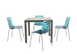 Aqua Table L Key Extending Table With 4 L Eau Chairs Furniture