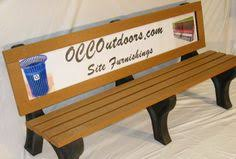 Park Bench Made From Recycled Plastic Seats Primarily 3 People Recycled Plastic Backless Park Bench