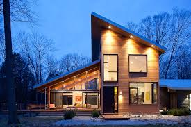 modern house roof deck exterior contemporary with shed roof hand