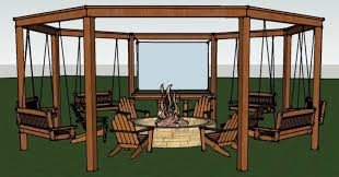 tutorial build an amazing diy pergola and fire pit with swings