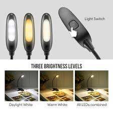 amber led book light eyes protection 60 lm led clip rechargeable book reading light le