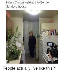 bernie sanders houses hillary clinton walking into bernie sanders house people actually