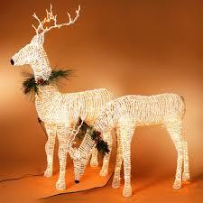 lighted reindeer 60 h electric lighted grapevine deer on metal frame