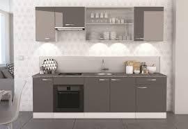 ensemble meuble cuisine meuble bas de cuisine contemporain porte blanc mat gris brillant