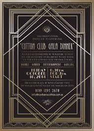 great gatsby cotton club theme gala dinner invitations leysa