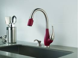 delta kitchen faucets warranty faucet com 9158 sr dst sd in stainless and chili pepper by delta