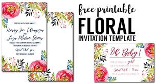 printable invitation template birthday floral invitation template free printable paper trail design