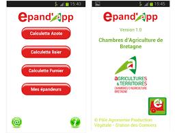 chambre d agriculture de bretagne application android epand app réglages épandeurs et ajustement