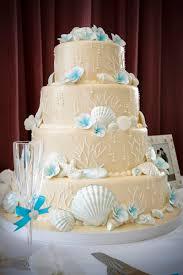 theme wedding cake destination wedding cake theme 4 tier ivory sand blue tropical jpg