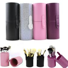 cheap makeup artist pu leather travel cosmetic brush pen holder storage empty holder