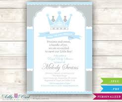 baby shower invitations for boy grey baby blue prince baby shower invitation for boy king gray