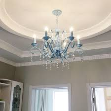 aliexpress com buy hghomeart blue chandelier led lustre