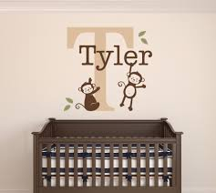 compare prices on baby monkey names online shopping buy low price custom monkeys name wall decal baby boys room decor nursery wall decor vinyl 22x26inch