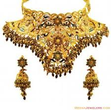 bridal gold set 22 kt gold bridal necklace and earing sets 22kt gold bridal