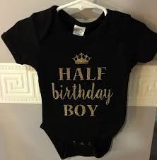 birthday onesie boy spotted on etsy half birthday onesies for babies shop girl daily