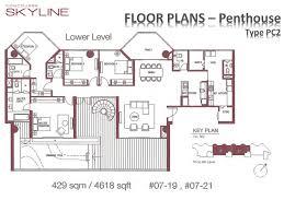 Podium Floor Plan by Podium Penthouse 4 Bed Concourse Skyline