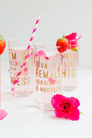 diy beyonce lyric glasses aka cocktails and a whole lotta queen b