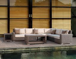 Wicker Sectional Patio Furniture - 4 pc coronado wicker sectional set patio productions