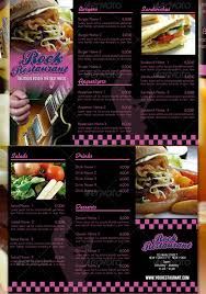 flyer menu template watering restaurant menu designs entheos