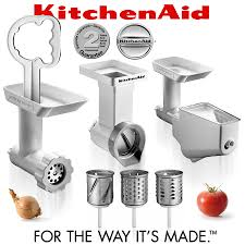 Kitchen Aid Grinder Attachment Kitchenaid 3pc Attachment Pack Fppc Cookfunky