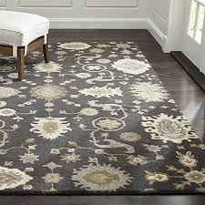 Brown And Grey Area Rugs Juno Grey Patterned Wool Rug Crate And Barrel Brown And Grey Rug