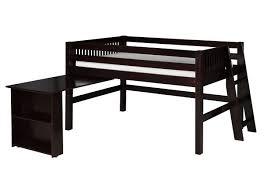 Ladder Style Computer Desk by Low Loft Bed Retractable Desk Ladder Mission Black