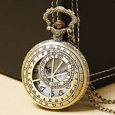 vintage necklace watch pendant images Vintage copper prague astronomical clock pocket watch pendant jpg