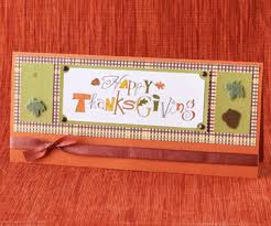 easy thanksgiving cards and table decorations made from scrapbooking