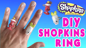 diy shopkins ring custom shopkins jewelry easy tutorial crafts for