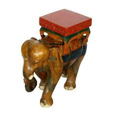 carved wood end table painted thai elephant carved wood end table sam s club