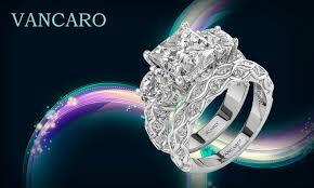 vancaro engagement rings princess cut three sterling silver engagement ring set vancaro
