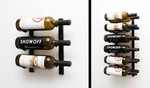 vintage view metal racks for stylish modern wine cellar displays
