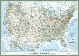 The Map Of United States Of America by Usa Essential Geography Laminated Wall Map 50x36in Imus
