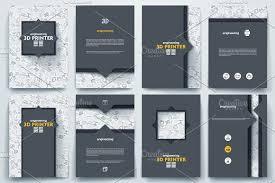 brochure on 3d printer theme brochure templates creative market