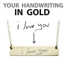 Name Plate Jewelry Handwriting Jewelry U2013 The Urban Smith