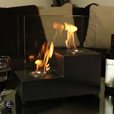 Portable Indoor Outdoor Fireplace by Tabletop Fireplace Bio Ethanol Flame Indoor Outdoor Ventless Glass
