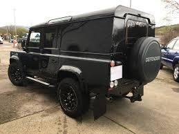 land rover defender 2015 black land rover defender 110 2 2 td xs utility wagon manual black park