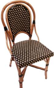Bistro Chairs Uk Bistro Rattan Side Chair Weave Color Pattern Beige