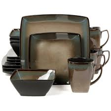 thanksgiving dinnerware tableware thanksgiving dinnerware set 16 pcs square stoneware banquet plates